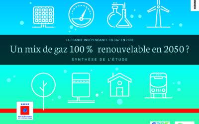 Etude 100% gaz renouvelable, par l'ADEME et ses partenaires
