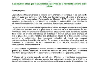 Contribution de France Gaz Renouvelables au Grand Débat National