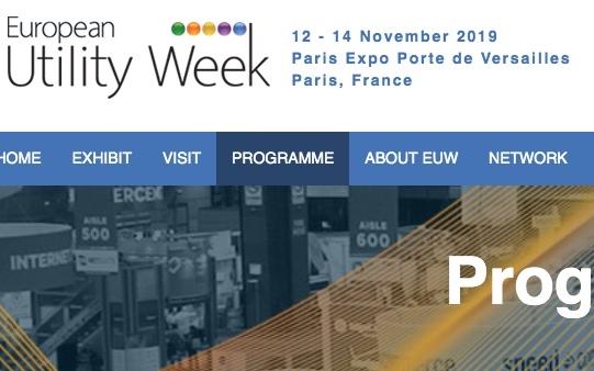 France Gaz Renouvelables sera présent à la European Utility Week à Paris en novembre !